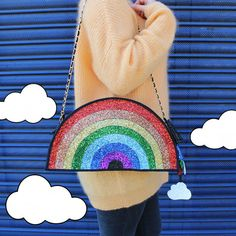 Hey, I found this really awesome Etsy listing at https://www.etsy.com/listing/231285299/glitter-rainbow-clutch-handbag