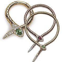 Aron & Hirsch- serpentes - Malha de ouro articulada utilizando uma técnica rara italiana de ourivesaria, anéis e braceletes em forma de serpentes!