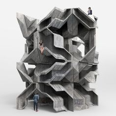 Concept Architecture, Architecture Design, Modular Design, Natural Forms, Futuristic, Concrete, Tower, Sculpture, Gallery