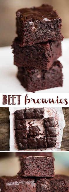 Beet Brownies are a decadent brown butter brownie recipe with a smooth buttermilk roasted beet puree mixed into the batter. The result is a lusciously soft brownie with an intense dark chocolate flavor. You'll enjoy the added health benefits of cooking with beets and will be pleasantly surprised with the flavor! #beet #beets #roastedbeets #beetpuree #brownie #chocolate #beetbrownie #beetrecipe