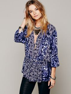Free People Ratio Print Tunic at Free People Clothing Boutique