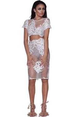 'Gwen' White Mesh and Lace 2 Piece Dress – Glamour Goddess Boutique https://glamourgoddessboutique.com/product/gwen-white-mesh-and-lace-2-piece-dress/