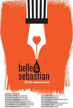 Belle & Sebastian 2010 North American Tour poster