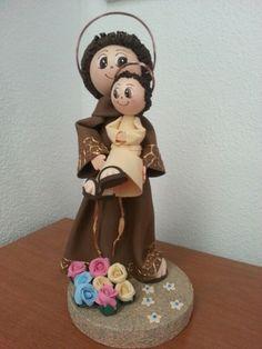 San Antonio All Craft, Sculpting, Polymer Clay, Religion, Christmas Decorations, Dolls, San Antonio, Diy, Crafts