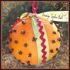 Orange Spike Ball