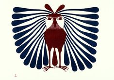Long Feathered Owl ©Kenojuak Ashevak Date made: 1994