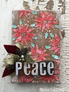 From One Lucky Day: great tutorial for using texture paste and stencils to create small works of art on purchased burlap panels. I really want to try this!