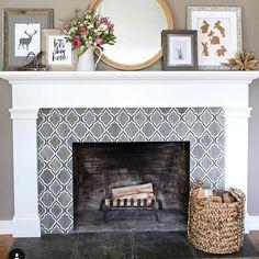 62 best tile fireplace surround images fireplace mantel rh pinterest com