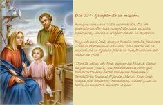 Haz, oh San José, que yo pueda con la palabra y con el testimonio de vida, colaborar en la misión de la Iglesia para la construcción del reino de Dios.