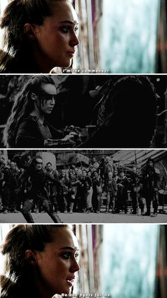Lexa: I am the commander. No one fights for me. #the100