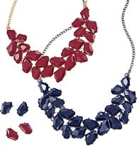 Bold Color Statement Collection Necklace and Earring Gift Set- start your Christmas shopping!