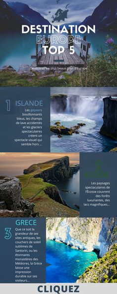 TOP PAYS D'EUROPE, les plus belle destinations...#voyage #astuces #conseils #travel