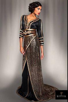 Caftan noir et doré | too gorgeous