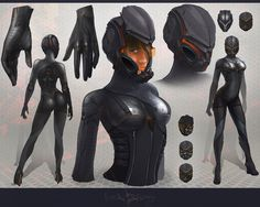 deviantART: More Like Sci-fi armor design by *telthona