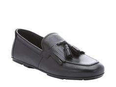Ferragamo tassels loafers in black grain leather - Italian Boutique €252
