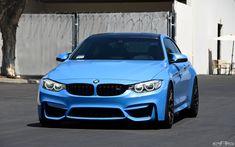 Yas Marina Blue BMW M4 On Matte Black GTS Wheels