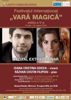 Ioana Goicea si Costin Filipoiu - 10 Aug 2016 24. August, Sebastian Bach, Recital, Concert