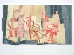 Matthew Harris Exhibit 15 of 62 Previous Next 'Archive' II Love Collage, Mixed Media Collage, Textile Fiber Art, Textile Artists, Textiles, Abstract Embroidery, Paper Drawing, Patch Quilt, Fabric Art