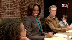 What's Will Ferrell doing with @Elodie Dicker? Having the sweetest focus group you'll ever see.