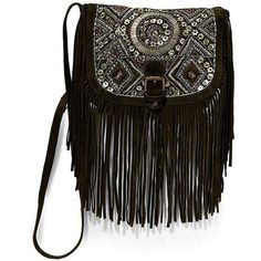 Big Buddha Siena Faux Suede Crossbody Bag ($99) ❤ liked on Polyvore featuring bags, handbags, shoulder bags, black, big buddha crossbody, black handbags, black purse, big buddha handbags and black crossbody purse
