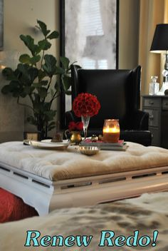 """ReNew ReDo!: Asian Style Coffee Table Turned Swanky Ottoman! """"How To"""""""