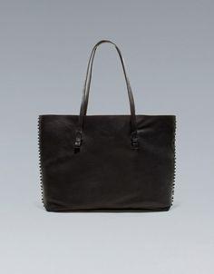 Studded Leather Shopper (only slightly trendy...)
