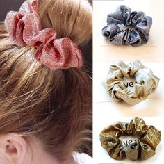 Women's Accessories Nice Velvet Scrunchie Bobble Diamante Elastic Ponytail Tie Hair Band Bridesmaid Ture 100% Guarantee Clothing, Shoes & Accessories