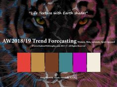 AW2018/2019 Trend Forecasting for Women, Men, Intimate, Sport - Life Texture with Earth shades  www.JudithNg.com