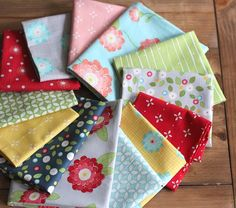 """Beautiful new """"Wallflowers"""" fabric line by Allison Harris from Cluck Cluck Sew"""