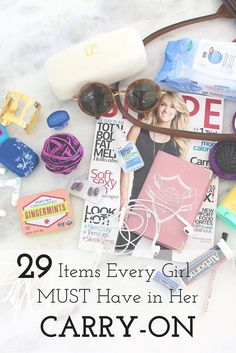 every girl must carry in a carryon 29 Items Every Girl MUST Have in Her Carry-on! You never want to be stuck without the Items Every Girl MUST Have in Her Carry-on! You never want to be stuck without the essentials! Carry On Bag Essentials, Carry On Packing, Road Trip Essentials, Packing List For Travel, Packing Tips, Traveling Tips, Vacation Packing, Travelling, Weekend Packing
