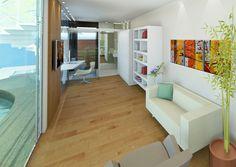Interior da Casa Mais Sustentável.