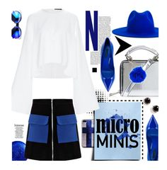 """New Trend: Micro Mini Skirts"" by hamaly ❤ liked on Polyvore featuring Dolce&Gabbana, Topshop, Boohoo, E L L E R Y, Kate Spade, Études, blueandwhite, trends, fallstyle and waystowear"