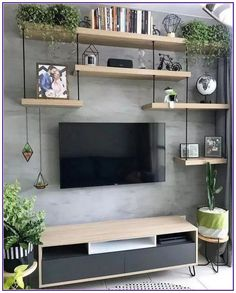 135 perfekt strukturierte Wände – Gestaltungsideen für Ihr Wohnzimmer – Seite … 135 murs parfaitement structurés – idées de design pour v… - Dinnerrecipeshealthy sites Living Room Interior, Home Living Room, Tv Wall Ideas Living Room, Living Room Shelves, Living Walls, Diy Living Wall, Living Room Hacks, Diy Wall, Kitchen Interior