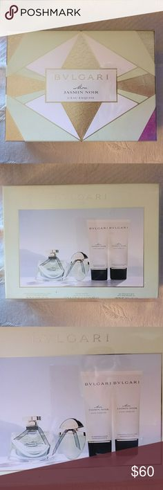 Authentic Bvlgari Mon Jasmine Noir This Bvlgari gift set includes the perfume, travel size perfume, cream, and shower gel. Perfume is authentic and is new. Bvlgari  Other