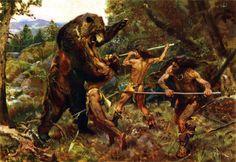 Google Image Result for http://1.bp.blogspot.com/-s4OqYamBHkQ/T01ruDWUumI/AAAAAAAAAFo/IEgOXaLLuww/s1600/hunting_the_cave_bear_by_zdenek_burian_1952.JPG