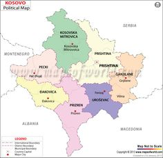 Political Map of Kosovo
