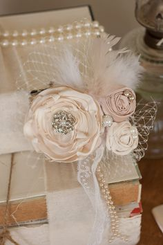 Vintage Inspired Pearl Wedding Hair Accessory