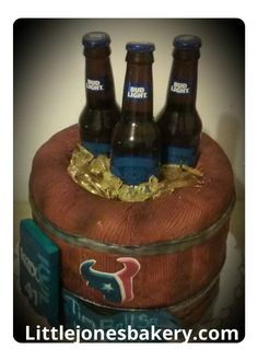 Bud Light, Custom Cakes, Personalized Cakes, Personalised Cake Toppers