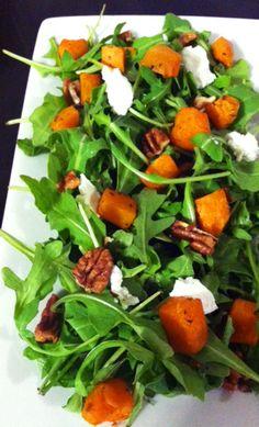 Sweet Potato Arugula Salad perfect with my veggie box goods! Savory Sweet Potato Recipes, Salad With Sweet Potato, Potato Salad, Soup Recipes, Salad Recipes, Dinner Recipes, Healthy Recipes, Dinner Ideas, Veggie Box