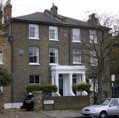 The home of writer George Eliot 31 Holly Lodge, London, SW18. She wrote The Mill on the Floss, Silas Marner and Adam Bede here