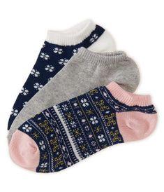 3-Pack Fair Isle, Solid & Clover Ankle Socks - Aéropostale®
