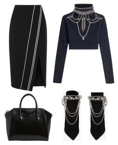 """""""Untitled #89"""" by clarabellasweet ❤ liked on Polyvore featuring La Ligne, Valentino, Yves Saint Laurent, Givenchy and Marc Jacobs"""