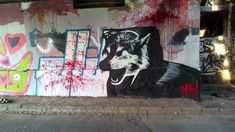 HK WOLF Graffiti, Wolf, Painting, Painting Art, Wolves, Paintings, Painted Canvas, Graffiti Artwork, Drawings