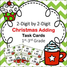 Christmas Adding Task Cards plus Numbers- Grades practice adding numbers up to a sum of one Task Cards, 36 Matching Answer Cards.These easy-print cards can be laminated for years of use. 5th Grade Classroom, 3rd Grade Math, Second Grade, Online Music Lessons, Math Task Cards, Christmas Math, Simple Prints, Elementary Math, Science Projects