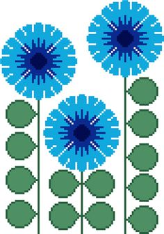 Round flower with ragged edges. Modern cross by crossstitchtheline