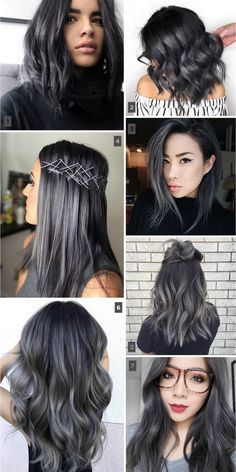 85 silver hair color ideas and tips for dyeing maintaining your charcoal hair trend balayage ombr highlights tendncia para o inverno 2017 charcoal haircharcoal graydiy solutioingenieria Image collections
