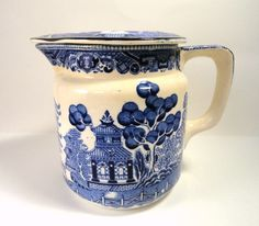 Buffalo Pottery Blue Willow Pitcher with by MemoriesofYesterday