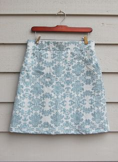 ikat bag: Working With Knits in Practice II: A-Line Skirt