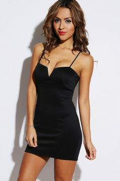 black v bust fitted clubbing party mini dress