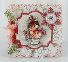 """""""Berry """" designed by Sylvia Zet © Wee Stamps for Whimsy Stamps Deeply etched rubber mounted on cling cushion foam, untrimmed. Approximate size in inches: x Tiddly Inks, Magnolia, Whimsy Stamps, Scrapbooking, Beautiful Handmade Cards, Tampons, Copics, Digital Stamps, Cute Cards"""